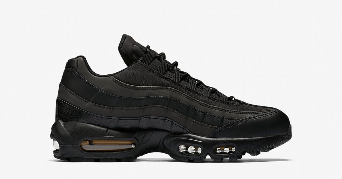 Nike Air Max 95 Premium Black Gold Cool Sneakers