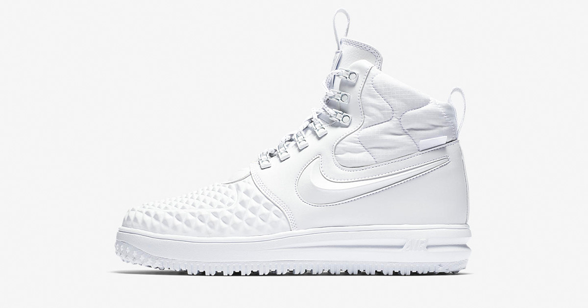 Nike Lunar Force 1 Duckboot Triple White AA1123-100