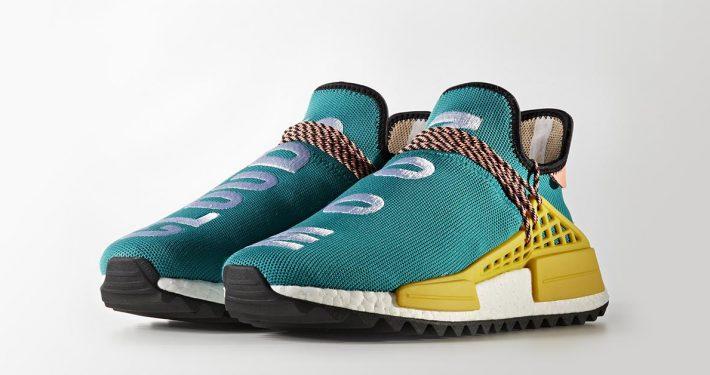 Pharrell Williams x Adidas NMD Hu Trail Sun Glow