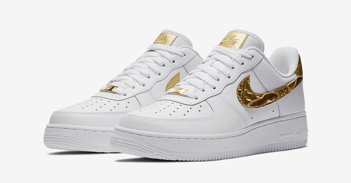 CR7 x Nike Air Force 1 Low Golden Patchwork AQ0666-100
