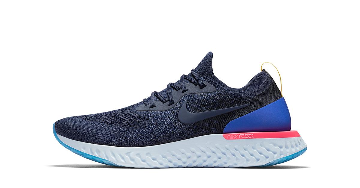 Blå Nike React Løbesko