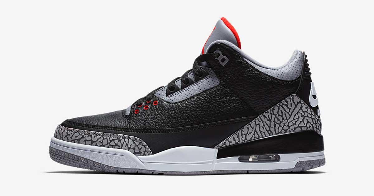 Nike Air Jordan 3 Black Cement 854262-001