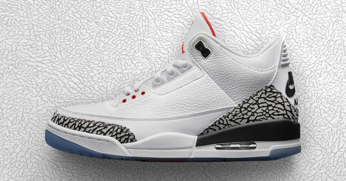 Nike Air Jordan 3 White Cement 923096-101