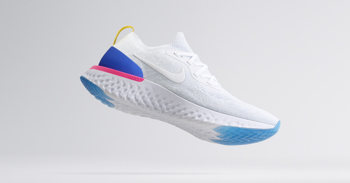 Hvide Nike Epic React Løbesko