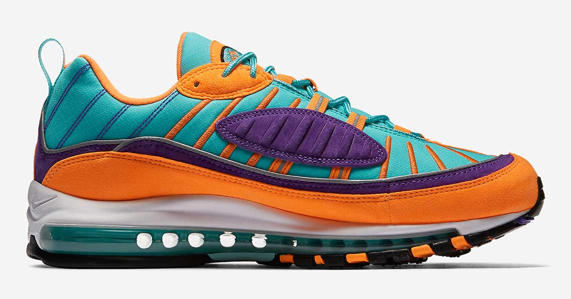 Nike Air Max 98 Orange Purple 924462-800
