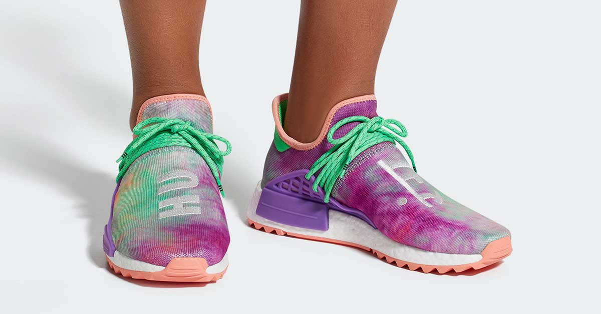 Pharrell Williams x Adidas NMD Hu Trail Holi Chalk Coral AC7034