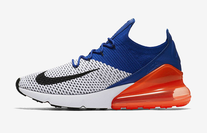 Nike Air Max 270 Flyknit Blue Orange