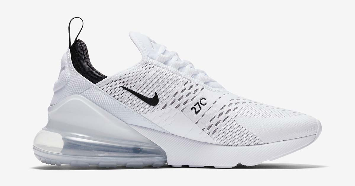 Nike Air Max 270 White Black Cool Sneakers