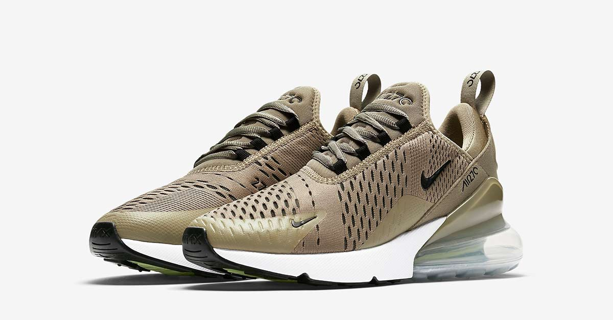 half off 76fa7 0d7dc Womens Nike Air Max 270 Olive - Cool Sneakers