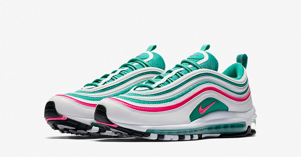 Nike Air Max 97 White Kinetic Green Pink Blast 921826-102
