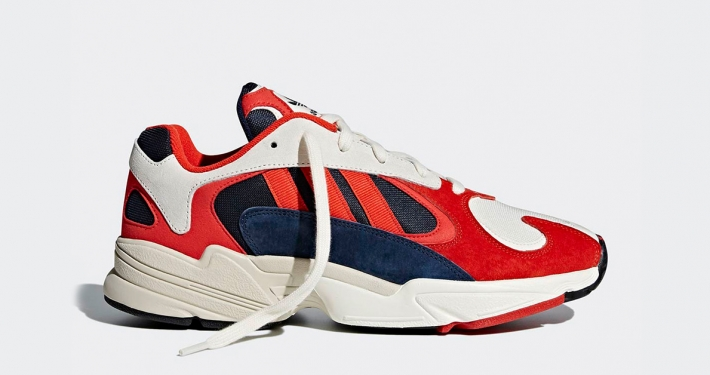 Adidas Yung 1 Chalk White Collegiate Navy Red B37615