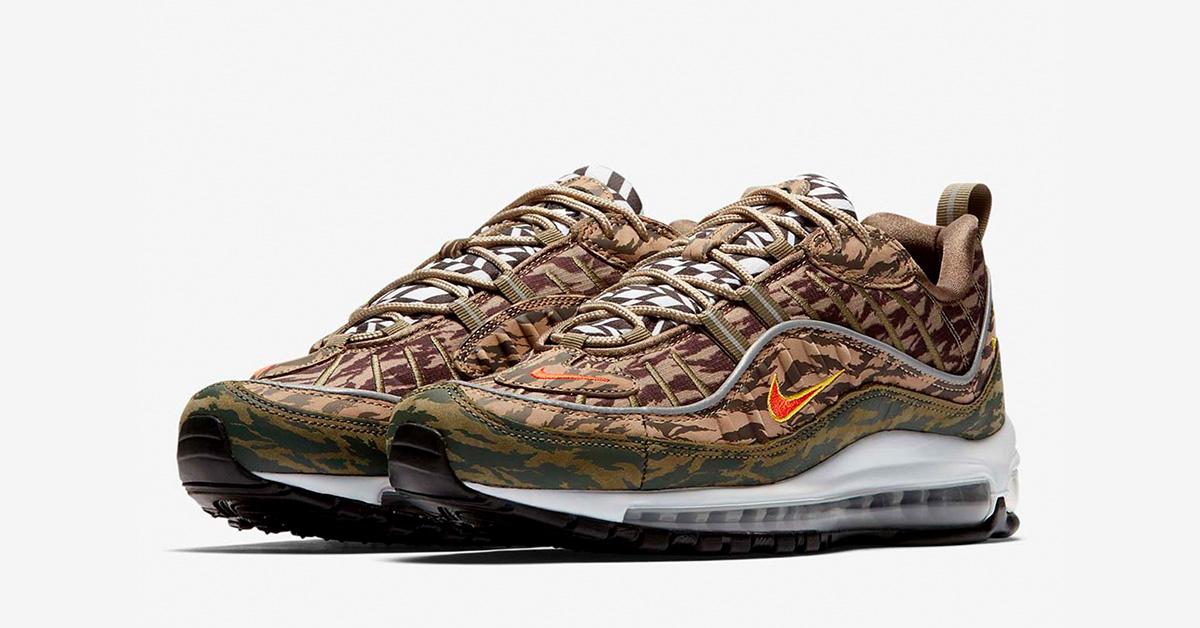 Nike Air Max 98 Khaki AOP Cool Sneakers