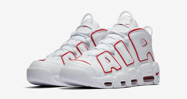 Nike Air More Uptempo White Varsity Red 921948-102