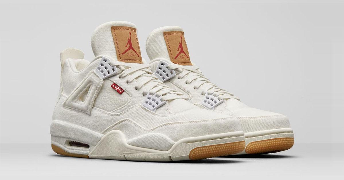 Levi's x Nike Air Jordan 4 Hvid AO2571-100
