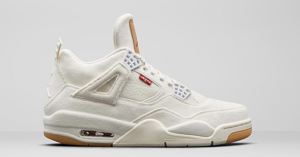 Levis x Nike Air Jordan 4 Hvid AO2571-100