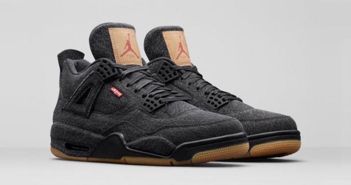 Levis x Nike Air Jordan 4 Sort AO2571-001