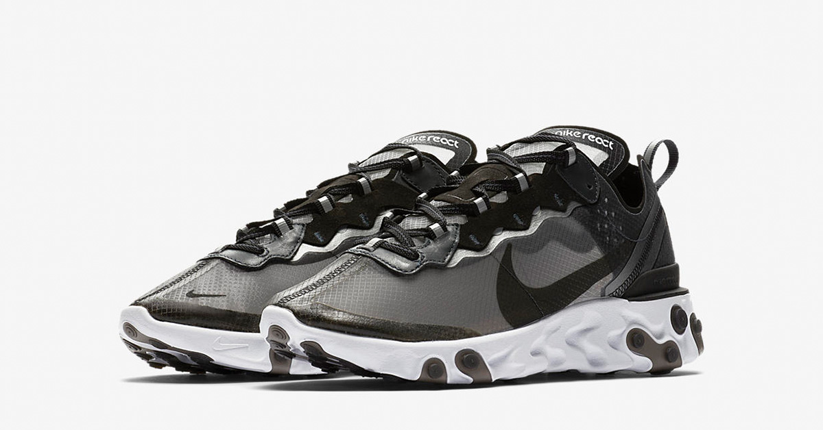 Nike React Element 87 Anthracite Black AQ1090-001