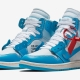 Off White x Nike Air Jordan 1 Powder Blue AQ0818-148