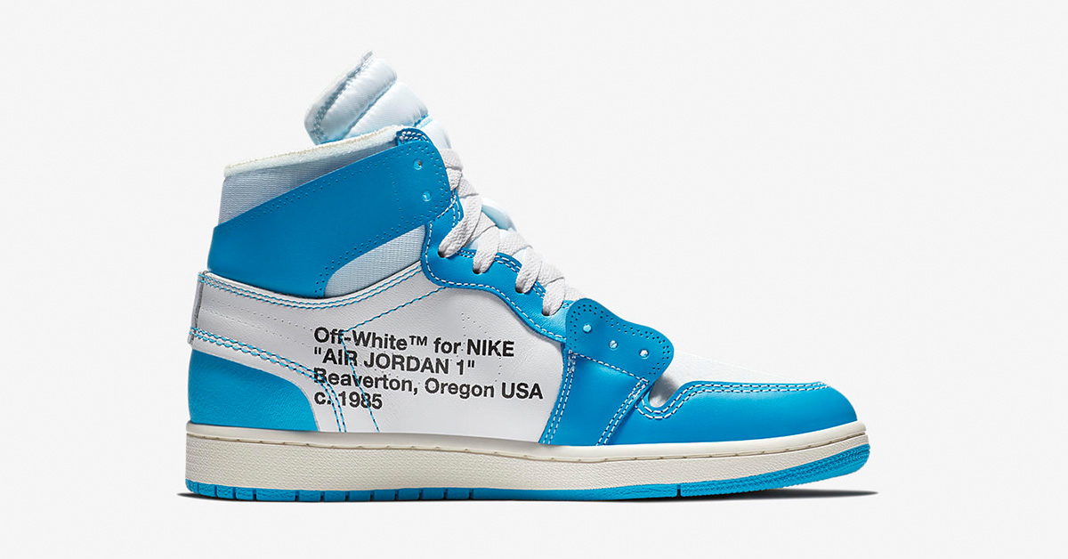 Off White x Nike Air Jordan 1 Powder Blue AQ0818-148