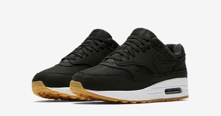 Womens Nike Air Max 1 Essentials Black White Gum 319986-037