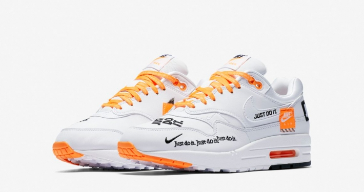 Womens Nike Air Max 1 White Total Orange 917691-100