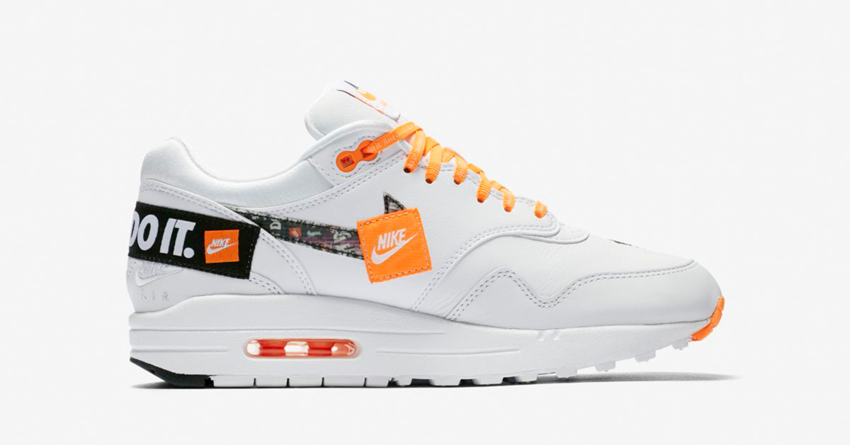 Womens Nike Air Max 1 White Total Orange 917691-100