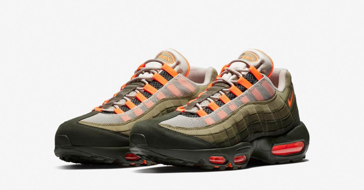 Nike Air Max 95 Total Orange Medium Olive
