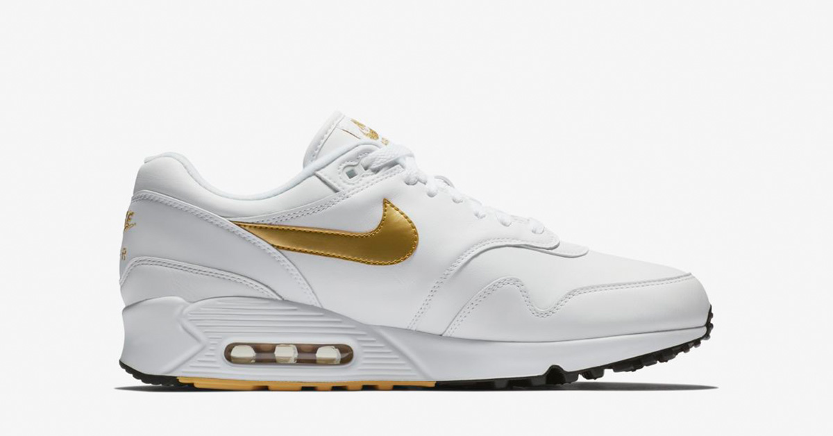 Nike Air Max 90/1 White Metallic Gold AJ7695-102
