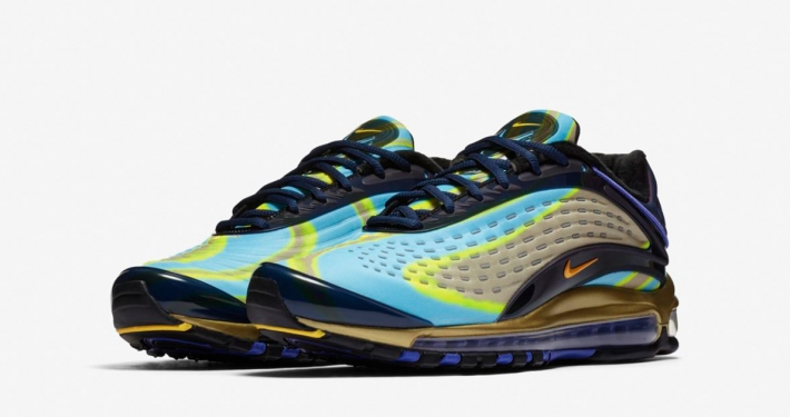 Nike Air Max Deluxe Midnight Navy Laser Orange Persian Violet