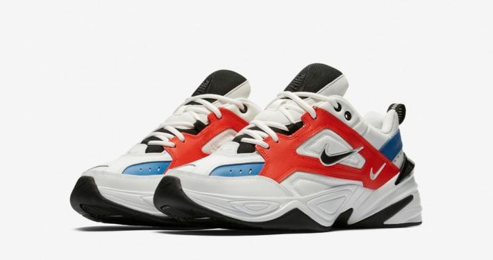 Nike M2K Tekno Summit White Team Orange