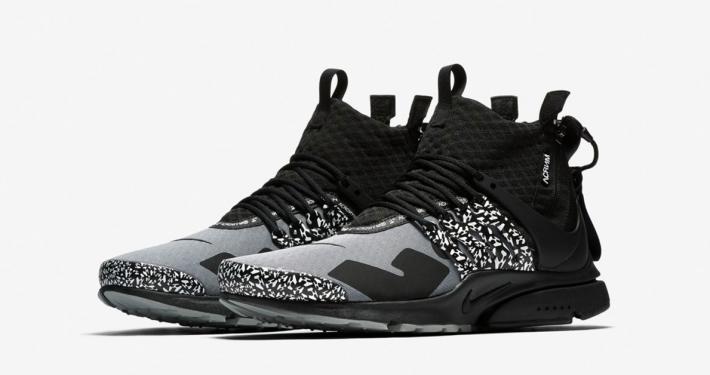 Acronym x Nike Air Presto Mid Utility Cool Grey Black