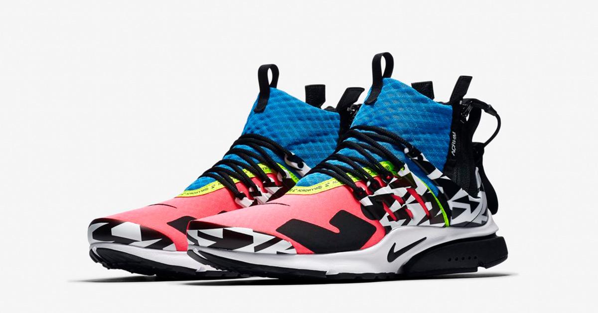 watch 37653 ef8b1 Acronym x Nike Air Presto Mid Utility Racer Pink Black Photo Blue