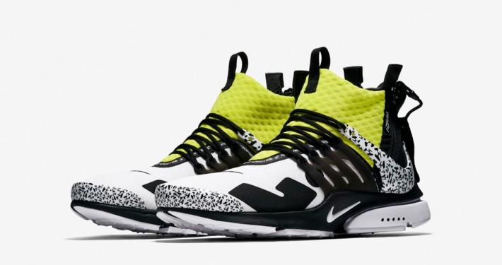 Acronym x Nike Air Presto Mid Utility White Black Dynamic Yellow