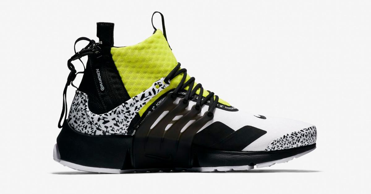 hot sale online 48d9b 28404 Nike Acronym Presto Custom Yellow And Black Dress Nike ...