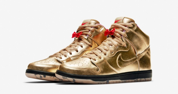 Humidity x Nike SB Dunk High Metallic Gold