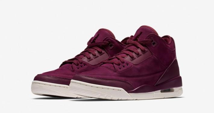 Nike Air Jordan 3 Bordeaux til kvinder