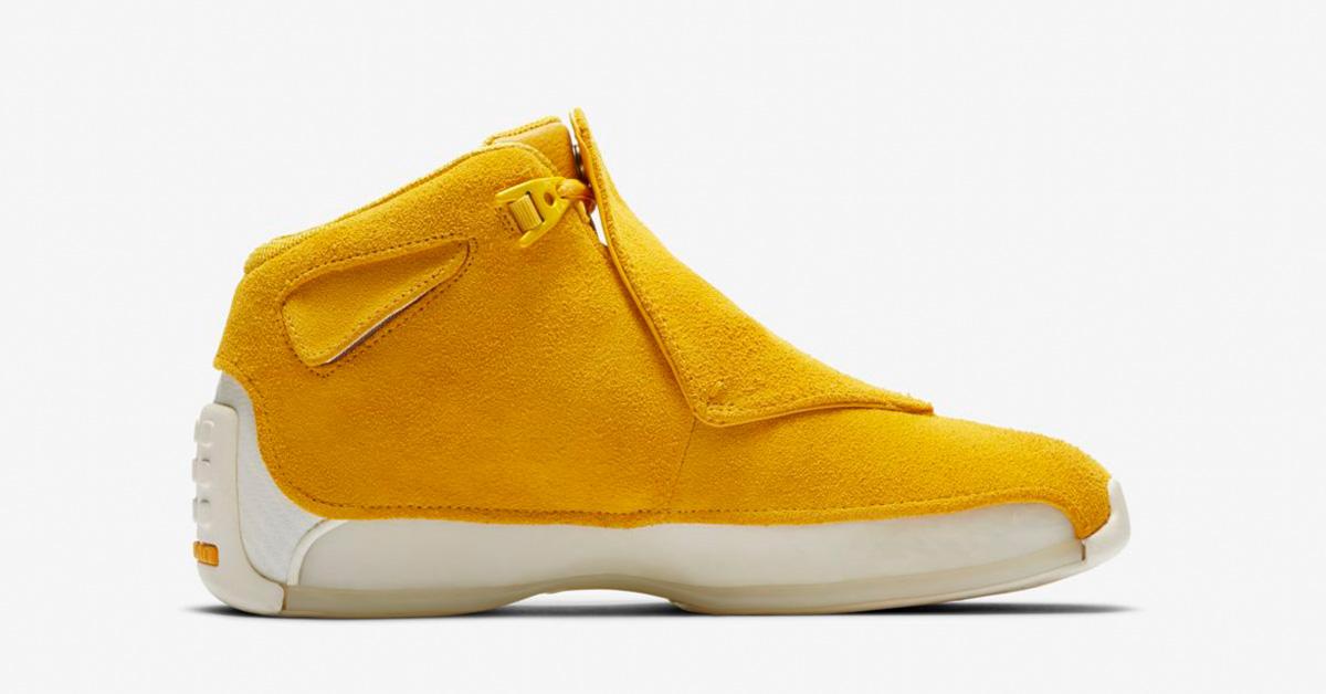 Nike Air Jordan 18 Yellow Ochre