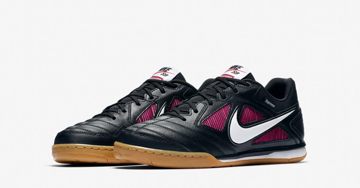 Supreme x Nike SB Gato Supreme Black White Cool Sneakers