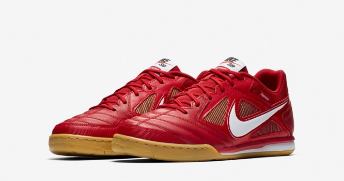 Supreme x Nike SB Gato Supreme Gym Red White