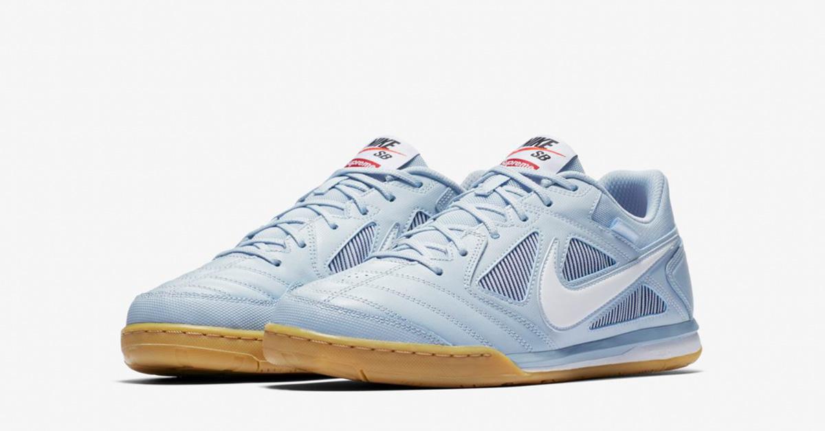 Supreme x Nike SB Gato Supreme Light Armory Blue Cool Sneakers