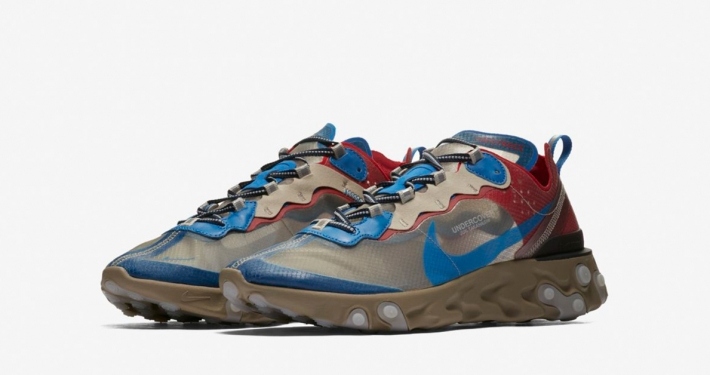 Undercover x Nike React Element 87 Light Beige Chalk Signal Blue
