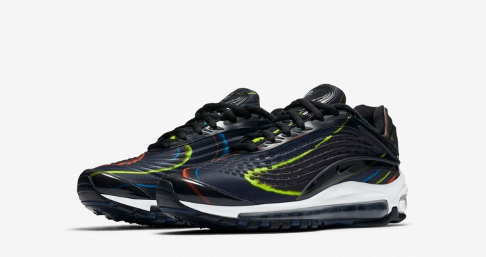 Womens Nike Air Max Deluxe Black Multicolor