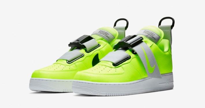 Nike Air Force 1 Utility Volt Black White