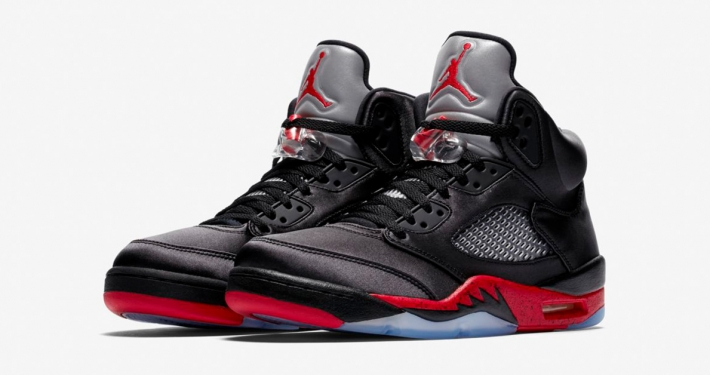 Nike Air Jordan 5 Black University Red
