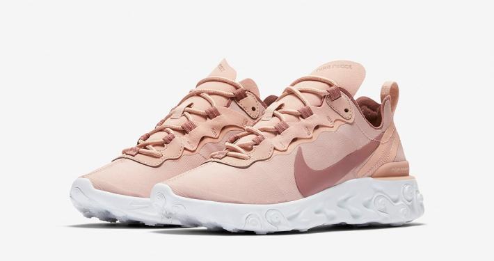 Nike React Element 55 Rosa til kvinder BQ2728-200
