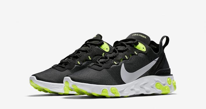 Nike React Element 55 Sort Volt til kvinder BQ2728-001