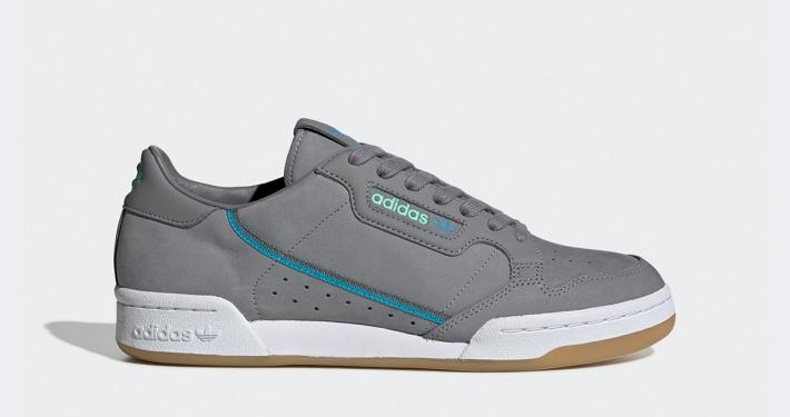 Adidas Continental 80 TFL Grå Tyrkis EE7269
