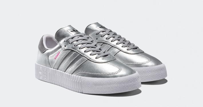 Adidas Sølv Sneakers til Damer