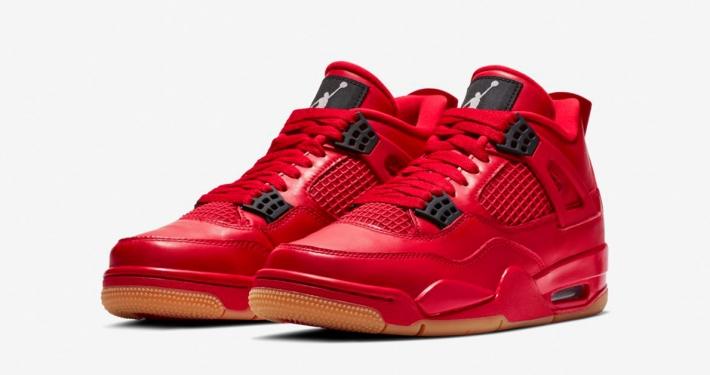 Nike Air Jordan 4 til Kvinder Røde