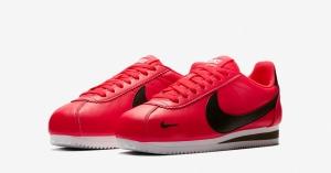 Nike Classic Cortez Premium Rød Sort